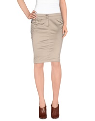 Lorna Bose' Knee Length Skirts Khaki