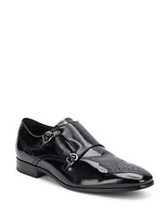 Tod's Buckle Top Patent Loafers Black