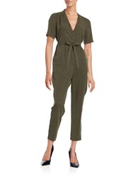 French Connection Trooper Tencel Jumpsuit Green