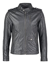 Freaky Nation Pete Leather Jacket Black Brown