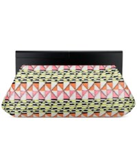 Nine West Collection Bora Clutch Hot Pink Multi