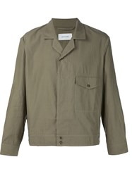 Christophe Lemaire Lemaire Single Breasted Shirt Jacket Green