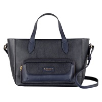 Radley Medium Columbia Road Leather Multiway Handbag Navy