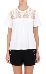 Chloe Guipure Lace T Shirt Colorless
