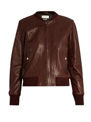Etoile Isabel Marant Brantley Bomber Jacket Burgundy