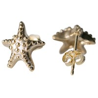 Meitalove Starfish Earrings Gold