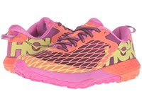 Hoka One One Speed Instinct Neon Coral Plum Women's Shoes Pink