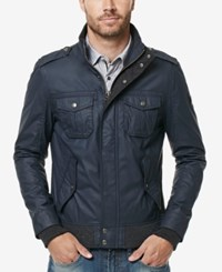 Buffalo David Bitton Men's Jacat Stand Collar Jacket Midnight Blue