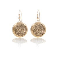 River Island Womens Gold Tone Filigree Dangle Earrings
