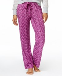 Alfani Printed Knit Pajama Pants Only At Macy's Berry Snowcaps
