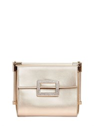 Roger Vivier Miss Viv Swarovski Laminated Leather Bag