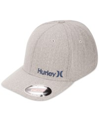Hurley Men's Corps Embroidered Logo Snapback Hat Wolf Grey