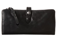 Frye Josie Wallet Black Washed Antique Pull Up Wallet Handbags