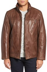 Marc New York Men's By Andrew Plymouth Lightweight Leather Jacket Mahogany