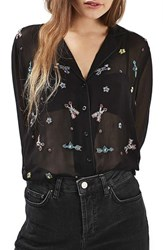 Topshop Women's Arrow Embellished Pj Shirt