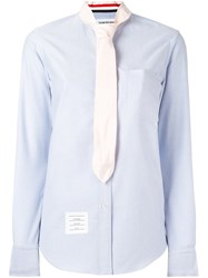 Thom Browne Neck Tie Button Down Shirt Blue
