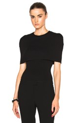 Rosetta Getty Fitted Shrug Top In Black