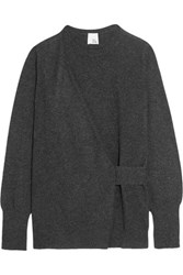 Iris And Ink Tea Draped Cashmere Sweater Charcoal