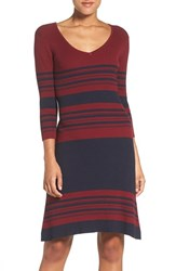 Fraiche By J Women's Stripe Body Con Sweater Dress