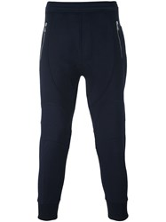 Neil Barrett Zipped Pockets Sweatpants Blue