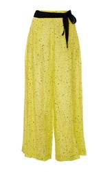 Proenza Schouler Yellow Cotton And Silk Voile Palazzo Pants