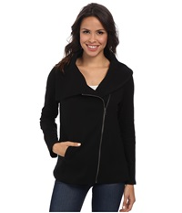 Nydj City Sport Cozy Moto Jacket Black Women's Coat