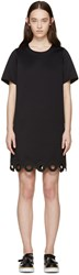 Carven Black Lasercut Circle Dress
