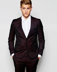 French Connection Plain Tonic Suit Jacket Red