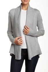 Premise Studio Long Sleeve Shawl Collar Cardigan Gray