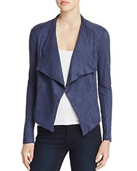 Majestic Filatures Metallic Open Front Cardigan Metal Navy
