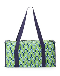 Malabar Bay Parker Y Print Canvas Duffel Bag Green