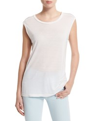 J Brand Jeans Sal Cap Sleeve Round Neck Tee Size Small White