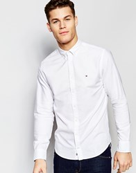 Tommy Hilfiger Oxford Shirt In New York Regular Fit In White White
