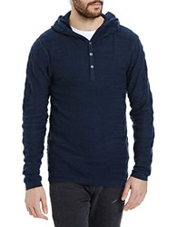 Bench Earnest Hooded Henley Bright Blue