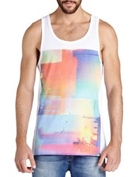 Bench Printed Flared Tank White