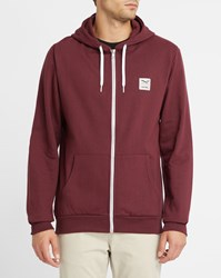 Iriedaily Burgundy Desire Flag Zip Hooded Sweatshirt