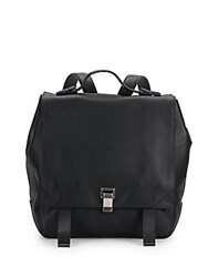 Proenza Schouler Ps Courier Leather Backpack Black