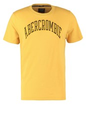 Abercrombie And Fitch Varsity Tech Muscle Fit Print Tshirt Gold Black