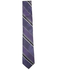 Ryan Seacrest Distinction Men's Huntington Stripe Slim Tie Only At Macy's Purple