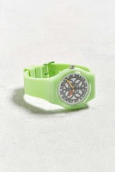 Urban Outfitters Uo Art Watch Peace In Unity Lime