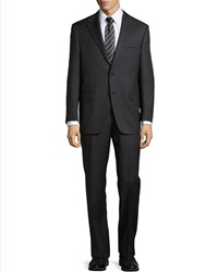 Hickey Freeman Lindsey Two Piece Pinstripe Suit Black
