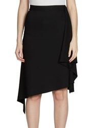 Givenchy Heavy Crepe Jersey Asymmetrical Skirt Black