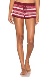 Minkpink Desert Sunset Shorts Burgundy