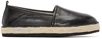 Msgm Black Leather Espadrilles