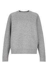 Ivy Park Logo Quilted Sweatshirt By Light Grey