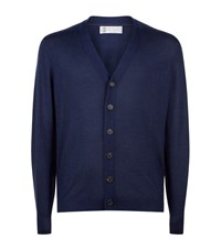 Brunello Cucinelli Lightweight Cashmere Silk Cardigan Male Navy