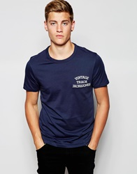 Jack And Jones Jack And Jones Classic Track And Field Crew Neck T Shirt Navy