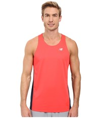 New Balance Accelerate Singlet Bright Cherry Galaxy Men's Sleeveless Orange
