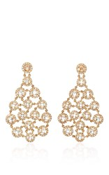 Amrapali 18K Gold Rosecut And Brilliant Cut Diamonds Earrings Silver
