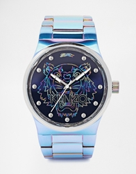 Kenzo Tiger Stainless Steel Watch Blue